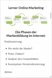 Mobile Version einer Website