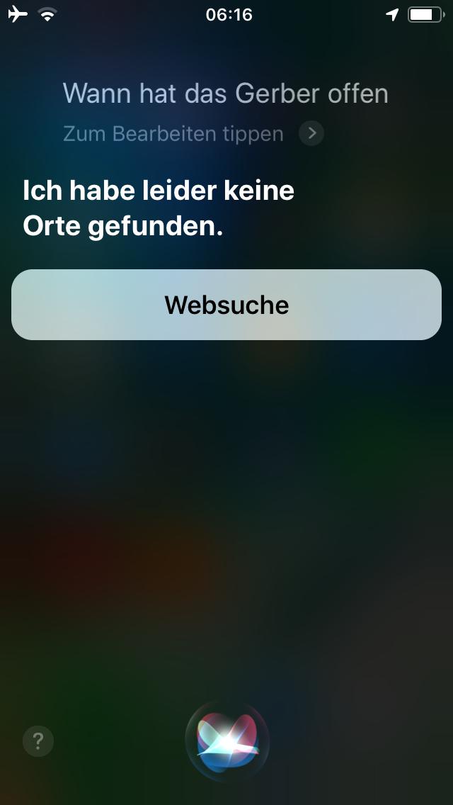 Siri Suche